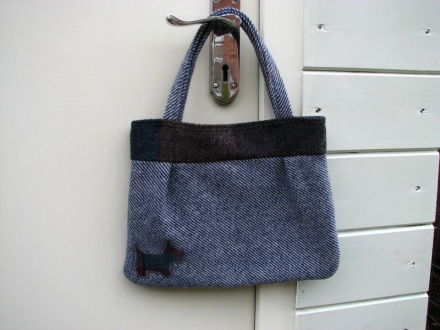 One of my tweed bags...with a Scottie dog motif.
