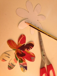 I cut out 10 flower shapes altogether.