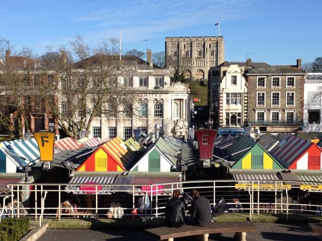 Norwich Castle and market